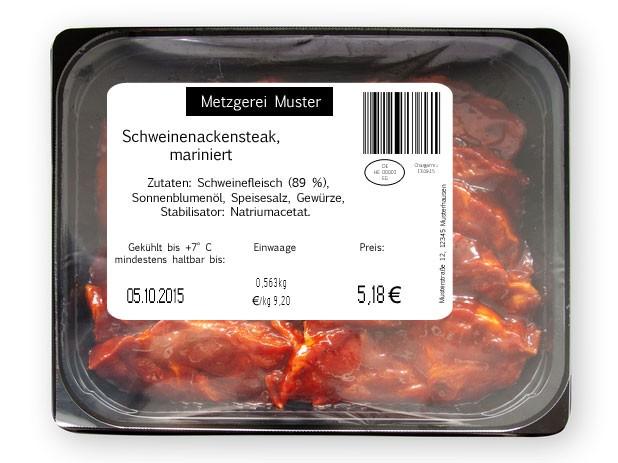 thermotransfer etikett